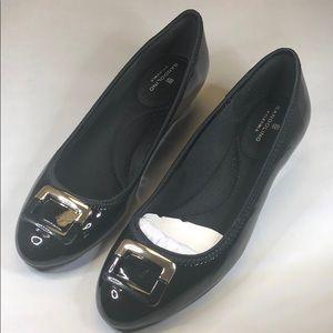 (p248) Bandolino Black Super Soft Sandals 7M